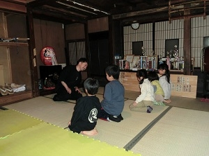 Children in learning Togakusi-Ryu Ninjutsu