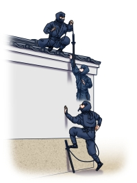 Ninja sword function1 -surmounting the wall-